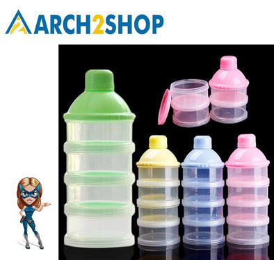 Portable Baby Infant Feeding Milk Powder Food Bottle Container 3 Cell - arch2shop.com