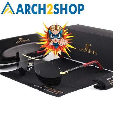 Men Vintage Aluminum HD Polarized Sunglasses Classic Brand Sun glasses - arch2shop.com