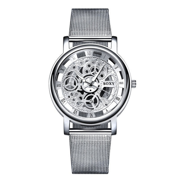 Hollow Steel Watches Men Women Unisex Quartz Wrist watch