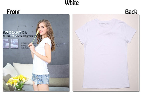 Plain T Shirt Women Cotton Elastic Basic T-shirts Female Casual Tops - arch2shop.com