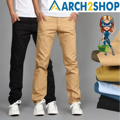 Design Casual Men's Cotton Slim Pant - arch2shop.com