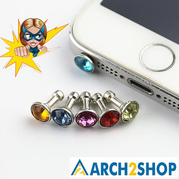 Universal Diamond Dust Plug For Mobile Phone - arch2shop.com