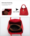Ladies Handbag PU Leather Diagonal Cross Buns