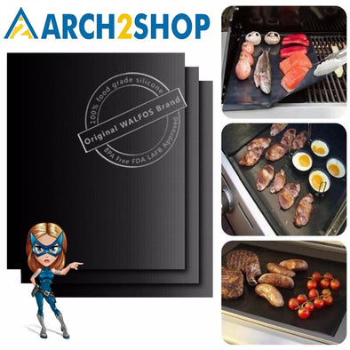 BBQ mat 0.2mm Thick ptfe Barbecue Grill Mat non-stick Reusable - arch2shop.com