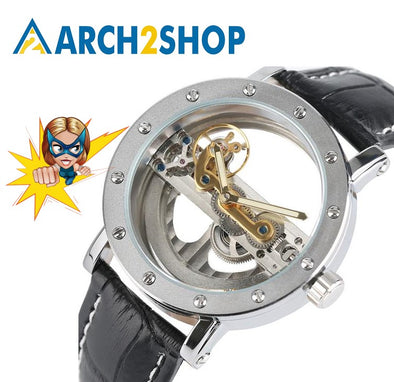 Automatic Mechanical Transparent Skeleton Business Casual men watches - arch2shop.com