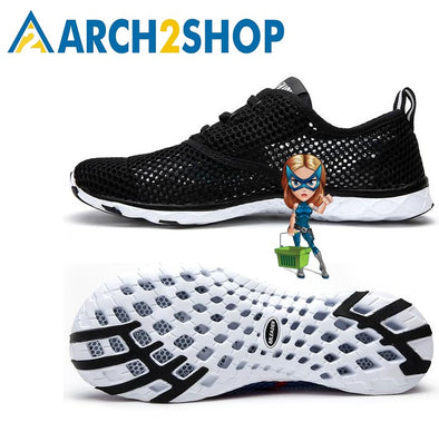 Summer Breathable Men Casual Shoes Lightweight Cushion Walking Shoes - arch2shop.com