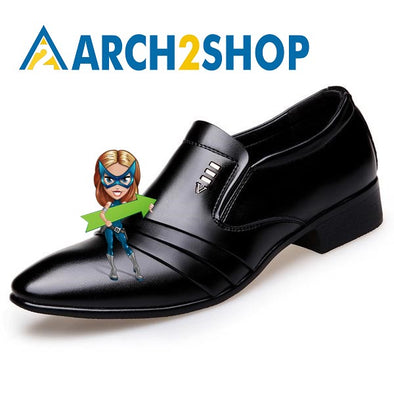 PU Leather Fashion Men Business Shoes - arch2shop.com