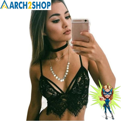 Summer Sexy Women Hollow Translucent Underwear Sheer Lace Frenum Strap - arch2shop.com