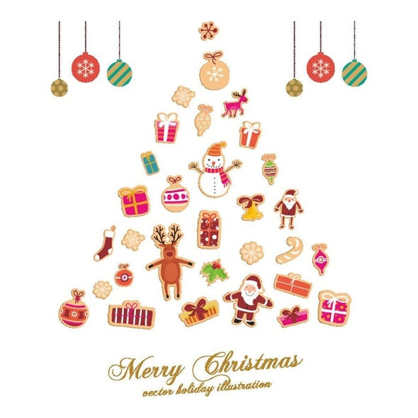 Christmas Removable DIY Wall Stickers Shop Window Stickers