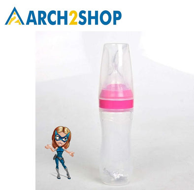 Baby Bottle Food Dispensing Spoon 120ml Juice Cereal Feeding Bottle Spoon