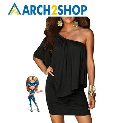 Army green Slash Neck Women Mini Dress Off Shoulder Sexy Casual Dress