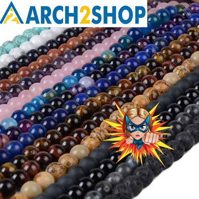Natural Stone Beads For DIY Making Bracelet Necklace Jewelry - arch2shop.com