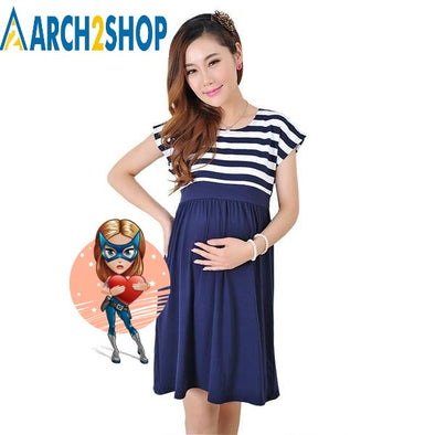 Women Long Dresses Maternity Nursing Dress for Pregnant Women - arch2shop.com