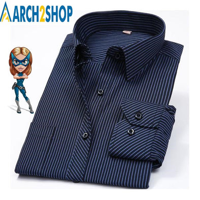 Spring Slim Fit Long Sleeve Business Men - arch2shop.com