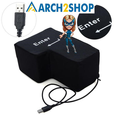 Slow Rising Big USB Enter Key Anti Stress Button - arch2shop.com