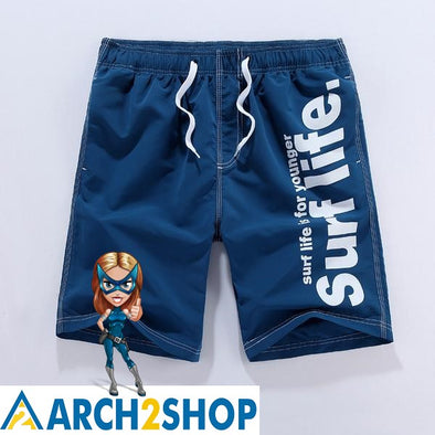 2018 New Shorts Men Summer Beach Quick Dry Shorts Casual Shorts - arch2shop.com