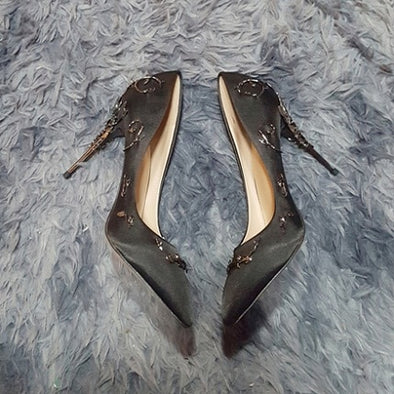 Elegant Silk Women Pumps High Heels - arch2shop.com