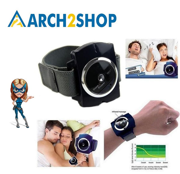 Snore Blocker Stopper Infrared Stop Snoring Wristband