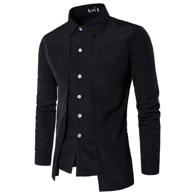 Men Long Sleeve Tuxedo Shirts