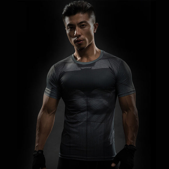 T-Shirt Male Crossfit Tee Fitness Compression Shirt MMA