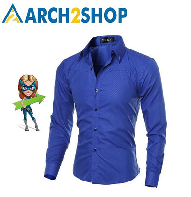 Cotton Mens Clothing Solid Soft Men Shirt Long Sleeve