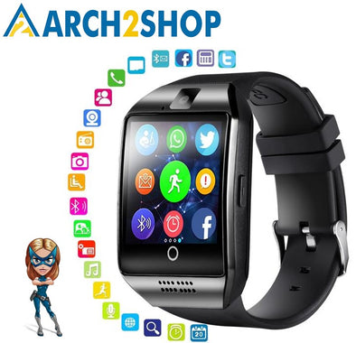 Touch Screen Big Battery Support TF Sim Card Camera Android Smartwatch