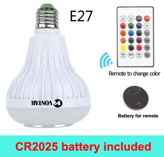 Wireless Bluetooth Speaker+12W RGB Bulb LED Lamp 110V 220V - arch2shop.com