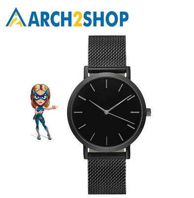 Fashion Women Crystal Stainless Steel Analog Quartz Wrist Watch Bracelet DEC19 - arch2shop.com