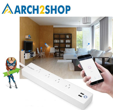 Wifi USB Power Strip smart Switch USB Charger 2m 15A wifi socket