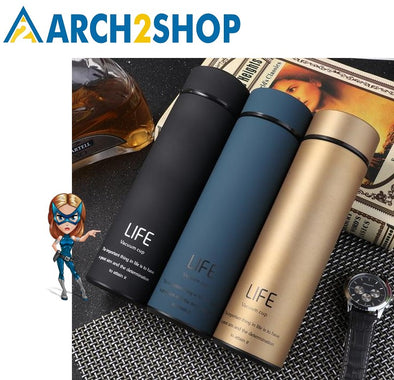 Thermos Tea Vacuum Flask With  Filter Stainless Steel 304 Thermal Cup