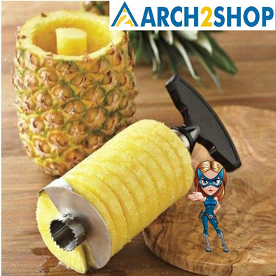 Pineapple slicer peeler cutter parer knife stainless steel kitchen - arch2shop.com