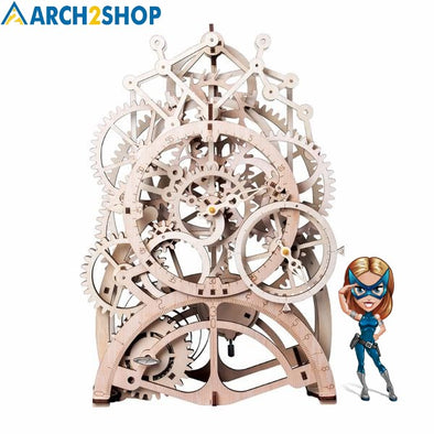 DIY Gear Drive Pendulum Clock by Clockwork  3D Wooden Model - arch2shop.com