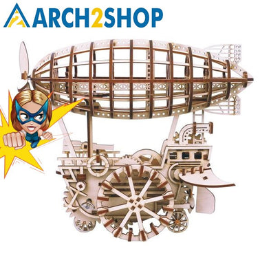 DIY Moveable Airship Gear Drive by Clockwork 3D Wooden Model - arch2shop.com