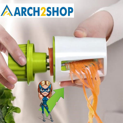 Vegetable Fruit Spiral Shred Process Device Cutter Slicer Peeler - arch2shop.com