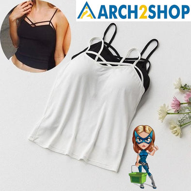 Sexy Crop Top Women's Pad Bra Tank Tops - arch2shop.com