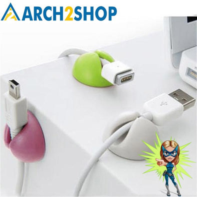 Solid Desk Set Wire Clip Organizer Office Accessories - arch2shop.com