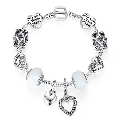Women Bracelet 925 Unique Silver Crystal Charm Bracelet for Women - arch2shop.com