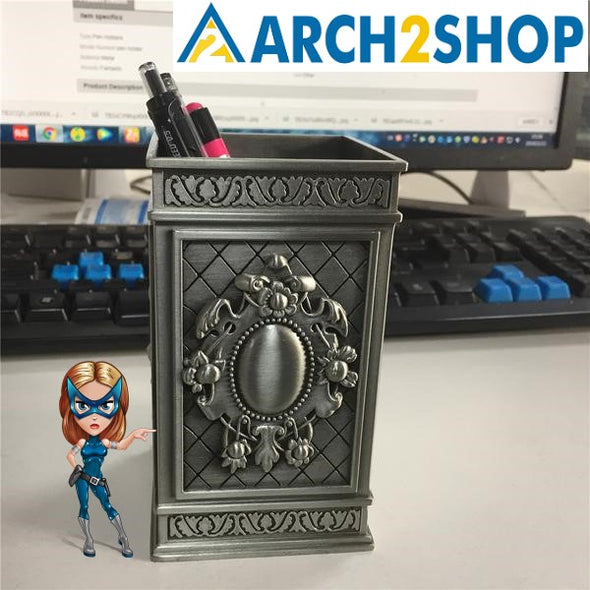 Creative Zinc Alloy Pen Holder Office Decoration - arch2shop.com