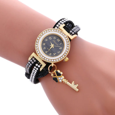 Women Watches Fashion Wrap Around Padlock Bracelet Wrist Watch