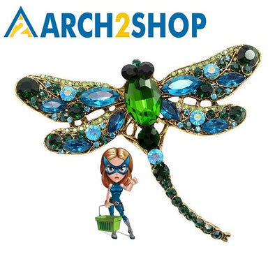 Crystal Vintage Dragonfly Brooches for Women Large Insect Brooch Pin - arch2shop.com
