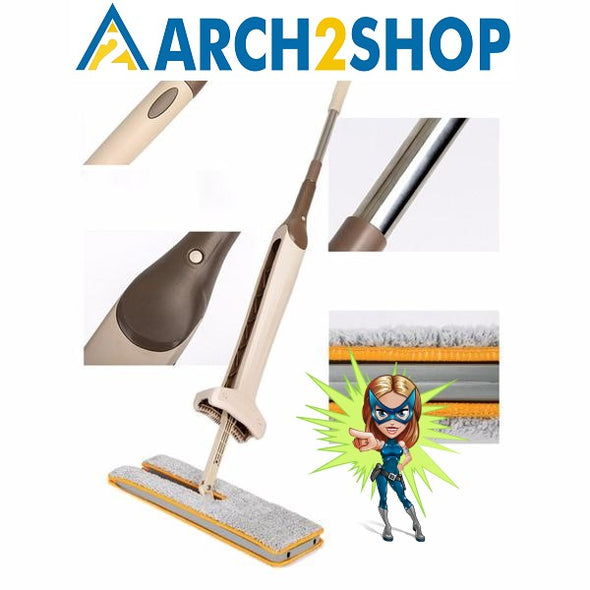 Self-Wringing Double Sided Flat Mop Telescopic Comfortable Handle - arch2shop.com