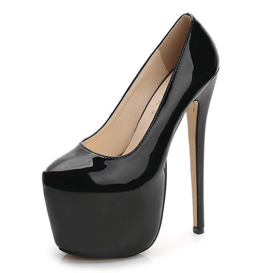 Women's Super High Heels Sexy leather Shoes - arch2shop.com