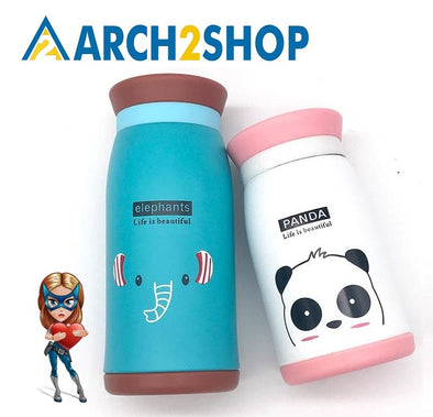 250ml/350ml Cartoon Thermos Cup Bottle Stainless Steel Thermocup