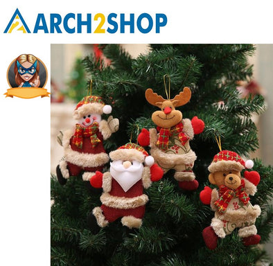Santa Claus Snowman Tree Toy Doll Hang Decorations