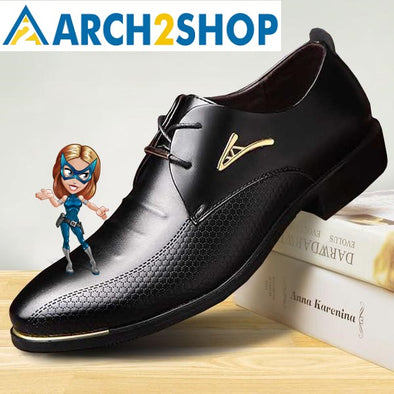 Classic Man Pointed Toe Dress Shoes - arch2shop.com