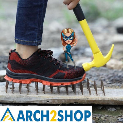 Men's Breathable Steel Toe Cap Work Safety Shoes - arch2shop.com