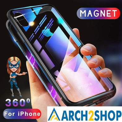 Magnetic Adsorption Case for iPhone XR XS X 8 Plus 7 6 6S - arch2shop.com