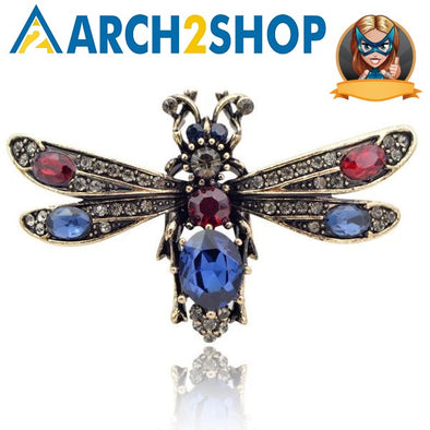 Crystal Bee Brooches for Women Vintage Fashion - arch2shop.com