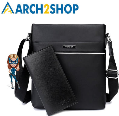Men's Bag Business Leather Men Messenger Bags Vintage
