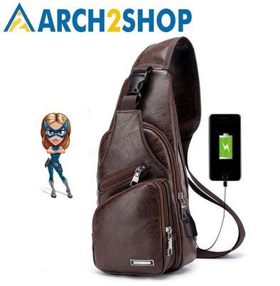 Men's Crossbody Bags Men's USB Chest Bag Designer Messenger bag